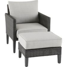 Magnificent Canvas Renfrew Chair And Ottoman Set Combines Style And Inzonedesignstudio Interior Chair Design Inzonedesignstudiocom