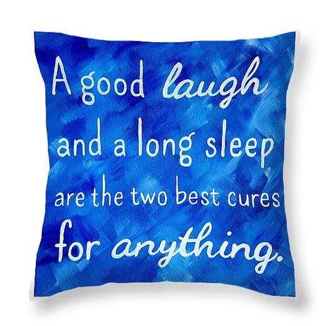 Inspirational Quote Pillow Royal Blue Decor by Paintspiration