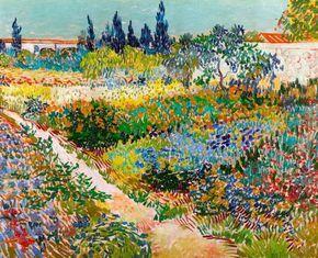 Vincent Van Gogh 1889 Garden At Arles Hd Canvas Print Or Art
