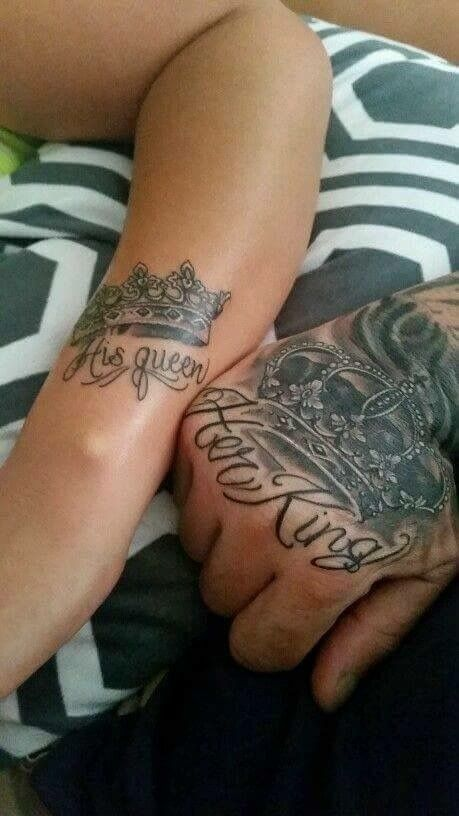 Matching Couple Tattoo Tatuaże Cute Couple