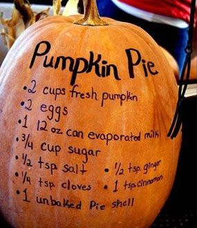 Unique pumpkin decorating ideas -- this would be adorable on the kitchen counter for Fall.