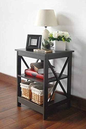 3 Tier Nightstand Side Table With Baffles And Corners Sofa End Tables Modern Side Table Bedside Night Stands