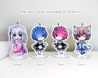 Re:zero | Rem - Ram - Emilia - Ferris | Acrylic Charm