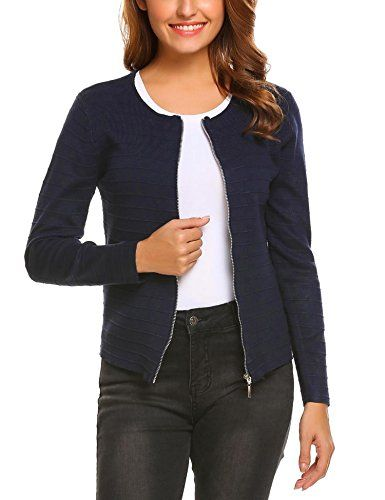 Original die beste Einstellung 100% original Finejo Damen Strickjacke Cardigan Strickmantel Pullover ...