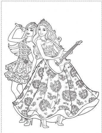 Barbie Popstar Ausmalbilder Barbie Popstar Ausmalen Painting Coloring Coloringpagesforki Malvorlage Prinzessin Disney Prinzessin Malvorlagen Ausmalbilder