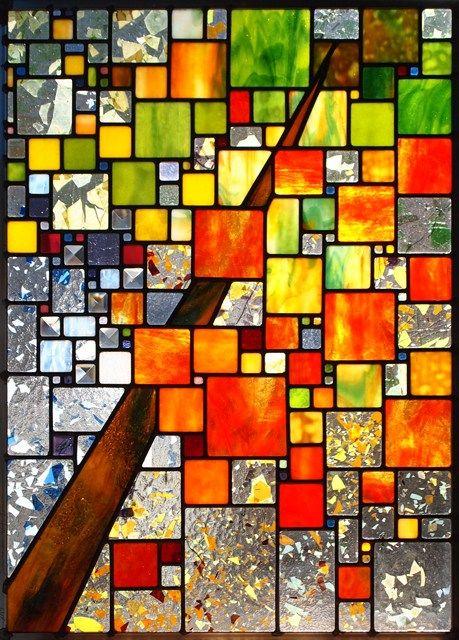 suncatcher gift for her Abstract Art glass Stained glass window stained glass panel glass panel suncatcher art glass