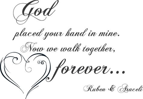 Walk Together Forever | Wall Decals