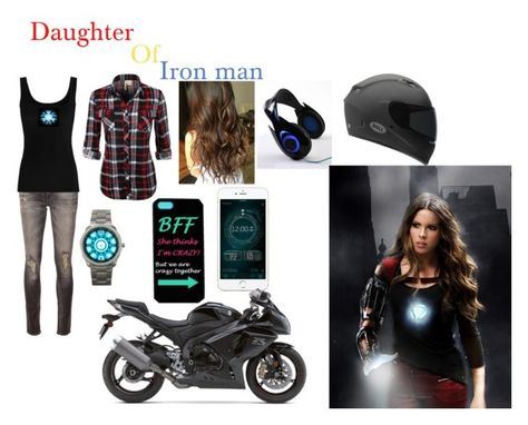 Daughter of iron man by random-girl-11 ❤ liked on Polyvore featuring R13, Twenty, Reactor and Accutime