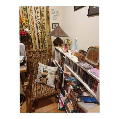Hope my coat hanger keeps my grandmother's rocking chair free from my clothes... #storage #resortingmyroom #resorting #clearingmyhead #fun #newfurniture