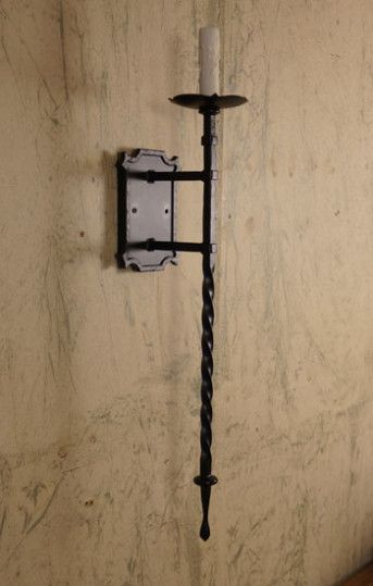 Tamara Wall Sconce With Images Iron Candle Sconce Iron