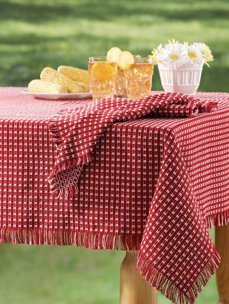 Mountain Weave Cotton Tablecloth Cotton Tablecloths Table Cloth Gingham Tablecloth