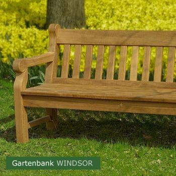 Massive Holzgartenbank Windsor Odum Iroko Hartholz Natur Unbehandelt Outdoor Outdoor Furniture Park