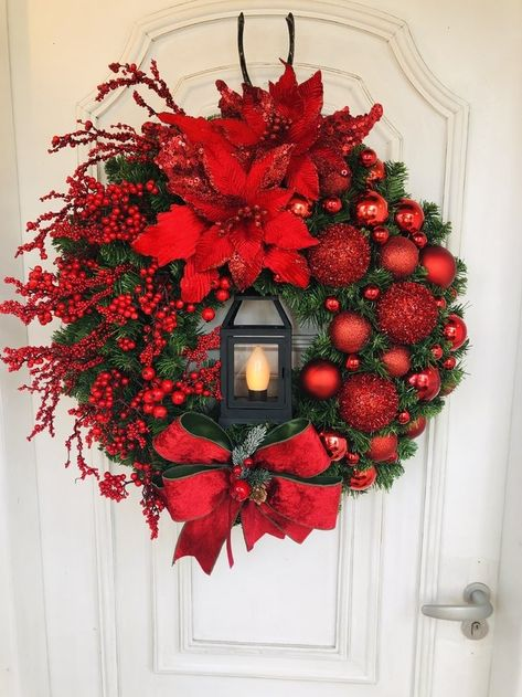 Christmas Wreaths To Make, Christmas Door Decorations, Christmas Centerpieces, Holiday Wreaths, Rustic Christmas, Christmas Projects, Christmas Home, Christmas Holidays, Holiday Decor