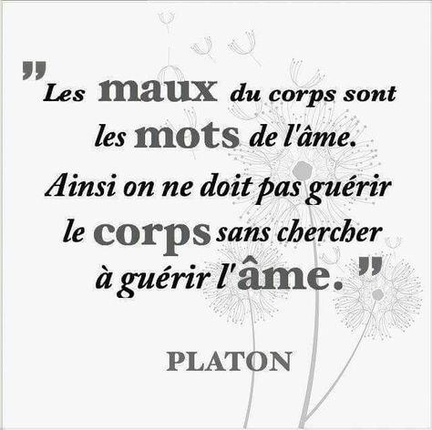 Citation Les Maux Du Corps Sont Les Mots De L âme Guérir