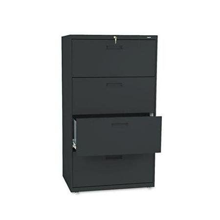 Hon 574lp 500 Series Four Drawer Lateral File 30w X 19 1 4d X 53 1 4h Black Shop Chair Hanging Rail Lateral File