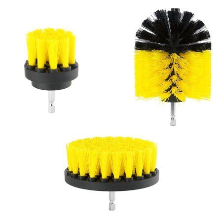 3pcs Drill Brush 360 Attachments Kit Cleaner Scrubbing Brushes For