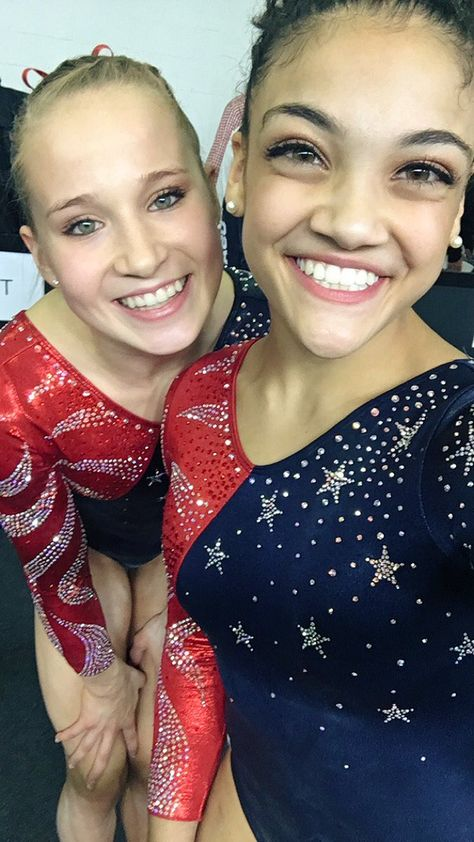 NBC Olympics Retweeted Laurie Hernandez ➶ @lzhernandez02 Aug 8 Posing hard for that good selfie lighting Madison Kocian