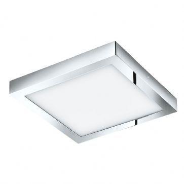 Eglo 96059 Fueva 1 Square Chrome Bathroom Ceiling Light Bathroom
