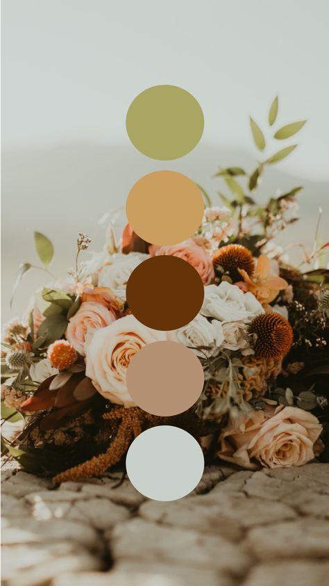 Oregon Salt Flat Desert Dried Florals Color Palette Wedding