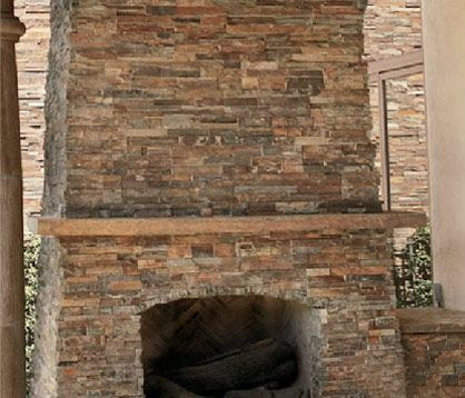 East West Stone Gallery » Natural Ledge » Autumn Rose | Fireplace ...