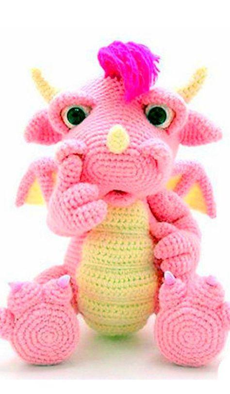 Dinegurumi! | Amigurumi | Pinterest | Crochet dragon, Free crochet ...
