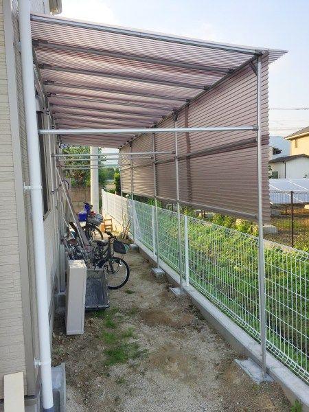 雨避け屋根がある自転車置き場を簡単diy 自転車置き場 自転車置き場