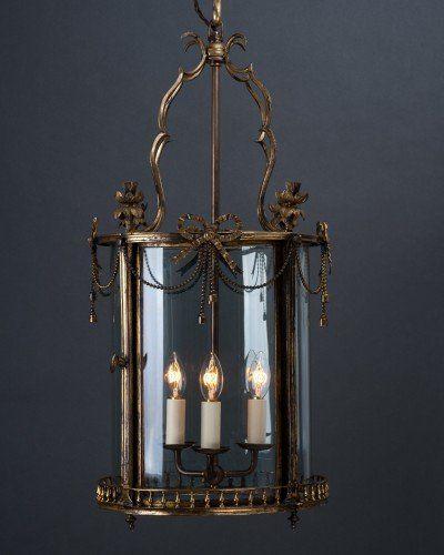 Decorative Late 19th Century Circular Hall Lantern In The