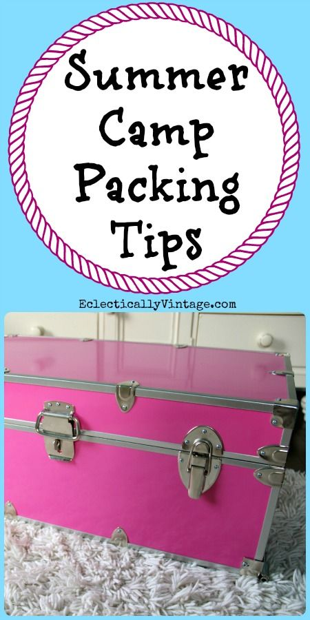 Summer Camp Packing Tips - everything you need to have a very happy camper!  eclecticallyvintage.com