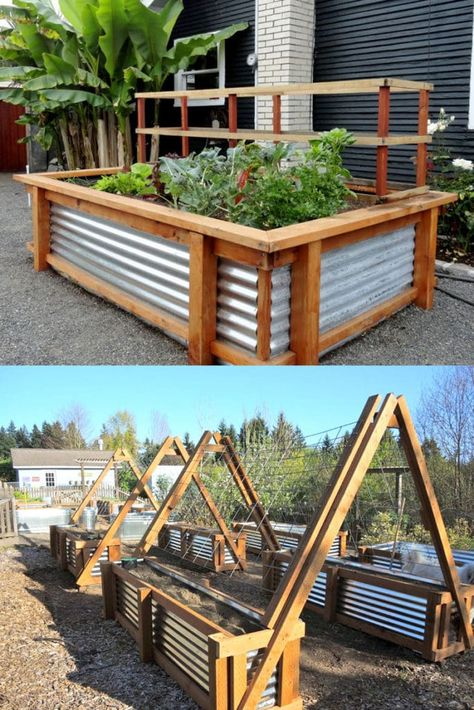 28 Best DIY raised bed gardens: easy tutorials, ideas & designs to build raised beds or vegetable & flower garden box planters with inexpensive materials! - A Piece of Rainbow #backyard #gardens #gardening backyard, landscaping, gardening tips, #urbangardening #gardendesign #gardenideas #containergardening #DIY #homestead homesteading #gardeningtips #woodworkingprojects #woodworkingplans
