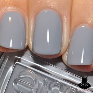 I literally have this exact nail polish on right now  perfect grey: essie: cocktail bling.