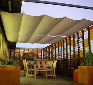 REA House In Bridgehampton Modern Patio With Overhead Canvas Blinds. |  Pergolas U0026 Arbours | Pinterest | Modern Patio, Patios And Decking