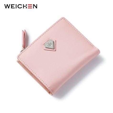 853dd56f5e4c1 Weichen rosa liebe herz kurzen geldbörse für mode dame
