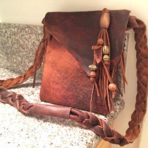 ipad mini size Hand made leather satchel