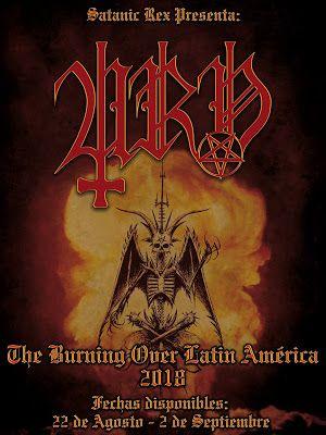 Long Live The Loud 666 Urn The Burning Over Latin America 2018 Cartel De Concierto Concierto Cartel