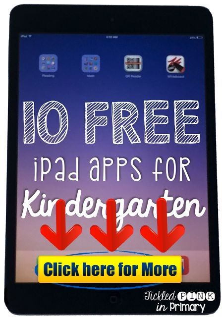 10 FREE Apps for Kindergarten #android #iphone #ios #app #free