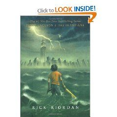 """Percy Jackson and the Olympians by Rick Riordan starting with """"The Lightening Thief"""""""