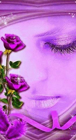 Tu enigma. Violet, Purple Love, All Things Purple, Shades Of Purple, Purple Flowers, Gifs, Beautiful Images, Beautiful Roses, Glitter Graphics