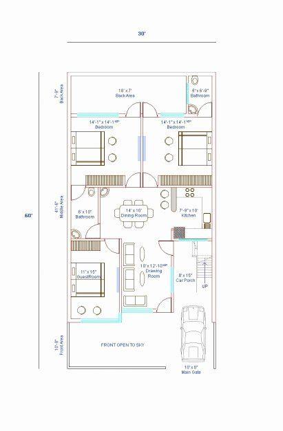 30 X 36 House Plans Unique 15 60 House Plan 3d House Floor Plans In 2020 House Plans With Pictures Shop House Plans Duplex House Plans