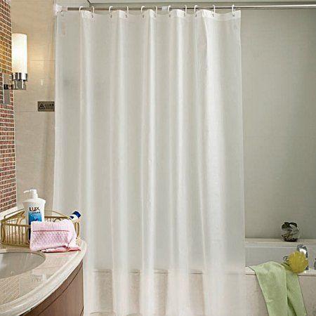 10 Gauge Shower Curtain Liner Bathroom Mold Resistant Translucent