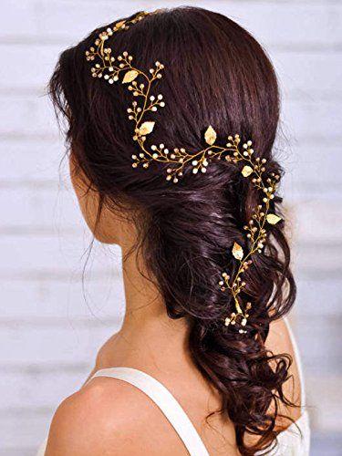 Aukmla Brautschmuck Diadem Haarteil Golden Leaves Glamoro Https Www Amazon De Dp B073xkr5pl Haarteile Hochzeit Kopfschmuck Hochzeit Frisur Braut