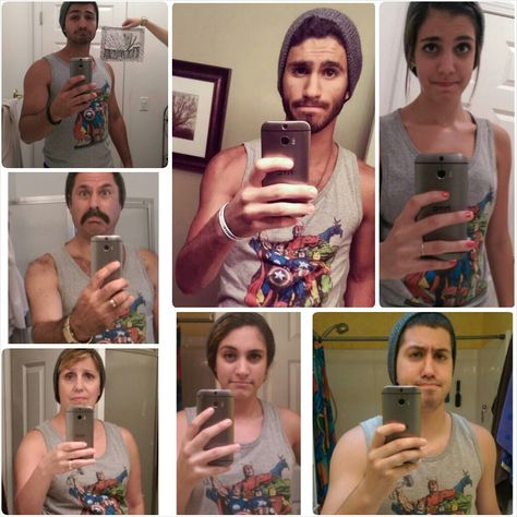 A family's youngest son tried to take a handsome selfie. His entire family made fun of him online.