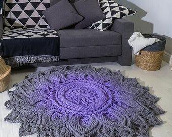 Big Crochet Burgundy Rug Round Area Rug 86 1 2 In Doily Etsy Round Rugs Shabby Chic Rug Burgundy Rugs
