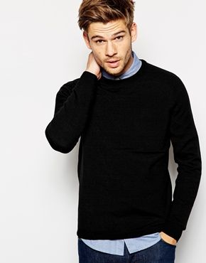 e55bf97a8ed28a ASOS Crew Neck Jumper in Cotton | he. | Mens jumpers, Men sweater, Pullover