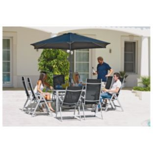 Buy Malibu 6 Seater Patio Set With Parasol   Express Delivery At  Argos.co.uk   Your Online Shop For Garden Furniture Express Delivery,  Garden Tableu2026