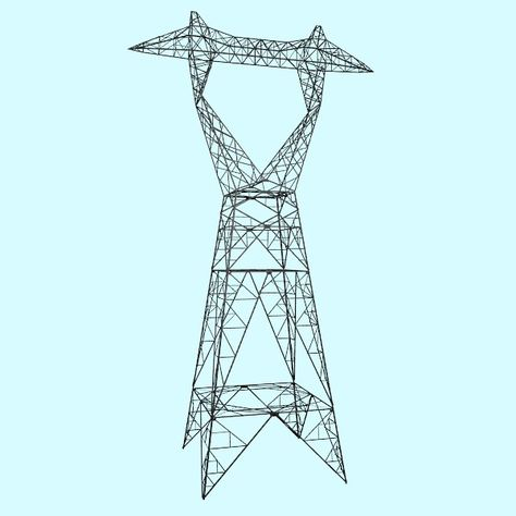 Obj Electrical Transmission Tower - 3D Model 3D-Modeling - substation apprentice sample resume