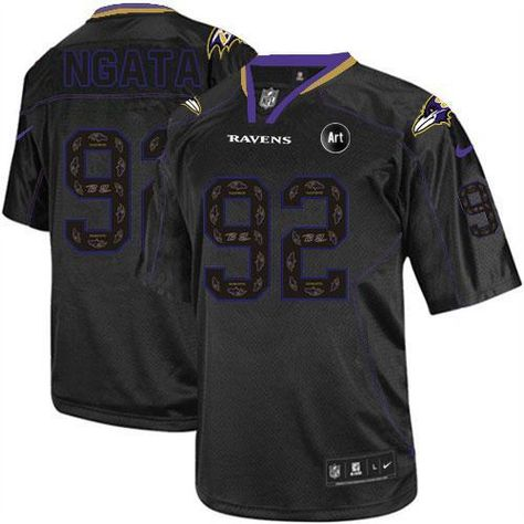 jerseys nike ravens 92 haloti ngata new lights out black with art patch mens embroidered nfl elite