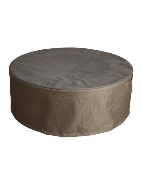 Elementi Round Gas Canister Cover And Matching Items Fire Pit Table Cover Outdoor Fire Pit Table Fire Table
