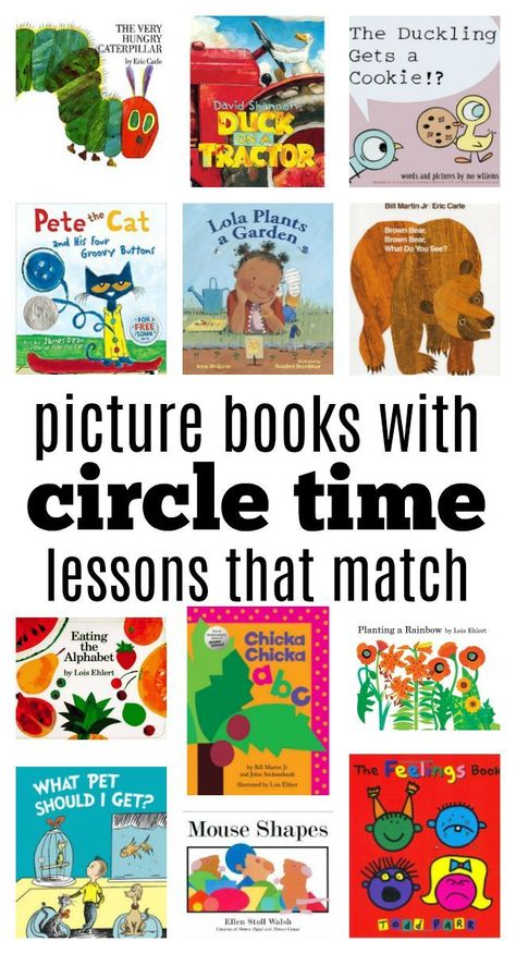Enhance your circle time lessons with these activities tailored to some of our very favorite children's books.