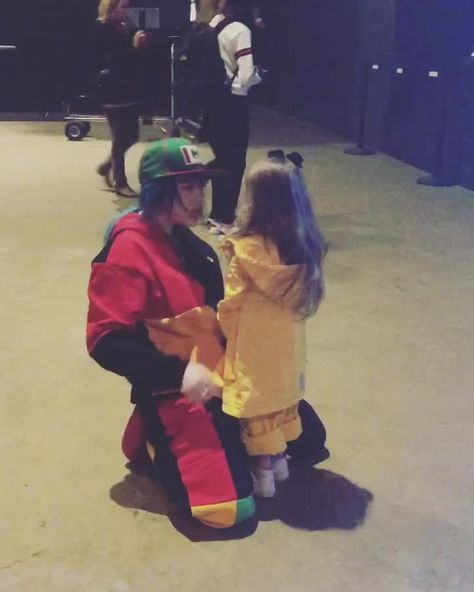 Billie Eilish meets her youngest fan