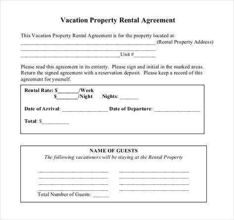 Short Term Rental Agreement Free Business Contracts Examples Free